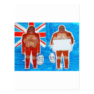2 Bigfoot Sagittal,1 text  on Aussie flag,.JPG Postcard