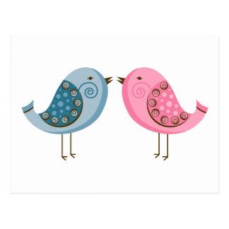 2 Birds Postcard