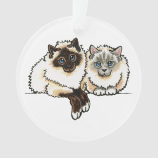 2 Birman Ornament