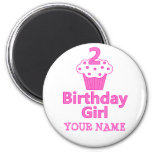 2 - Birthday Girl - Cupcake Design Refrigerator Magnet