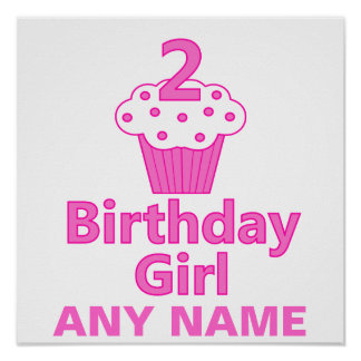 2 - Birthday Girl - Cupcake Design Poster