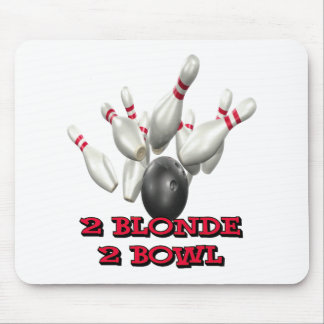 2 Blonde 2 Bowl Mouse Pad