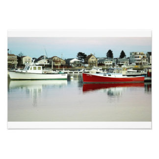 2 Boat's and Their Reflections in the water. Photo Print