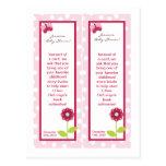 2 Bookmarks Berry Garden Lady Bug Flower Pink Postcard