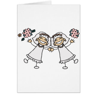 2 Brides Greeting Cards