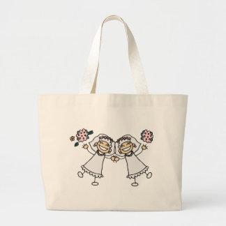 2 Brides Jumbo Tote Bag