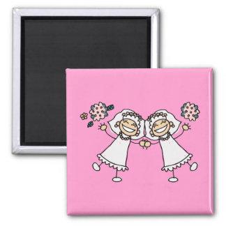 2 Brides Refrigerator Magnets