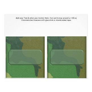 2 Camouflage Birthday Custom Candy Bar Wrappers 21.5 Cm X 28 Cm Flyer