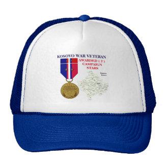 2 CAMPAIGN STARS KOSOVO WAR VETERAN TRUCKER HAT