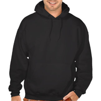 2 candy canes and ribbon hooded pullover