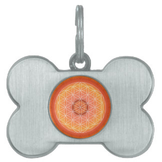 2 Chakra Flower of Life orange Pet Tag