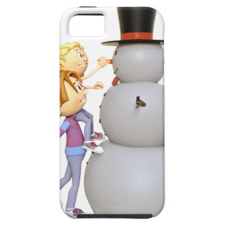 2 Children Making a Snowman iPhone 5 Cover