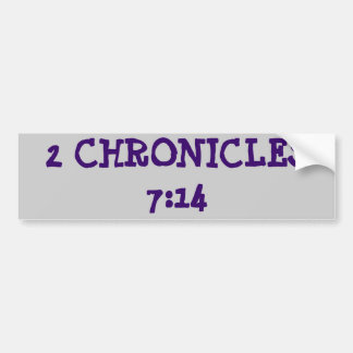 2 Chronicles 7:14 Bumper Stickers