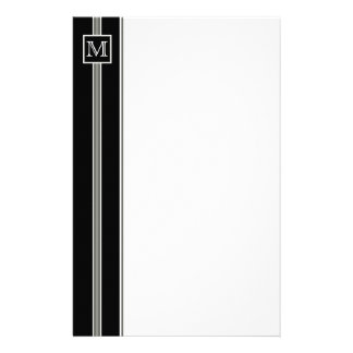 (2) Classic Monogram Striped Stationery