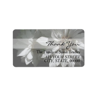 2 Clematis Family Thank You Address Label