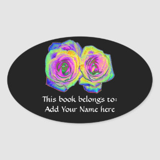 2 Colored Foil Roses (#1) Sticker