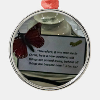 2 Cor. 5:17 Therefore, if any man be in Christ, he Christmas Ornament