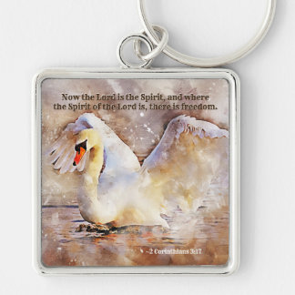 2 Corinthians 3:17 ...there is freedom Bible Verse Key Ring