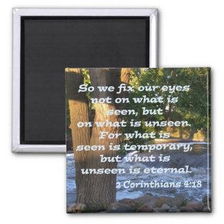 2 Corinthians 4:18 Square Magnet