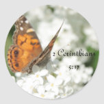 2 Corinthians 5:17 Butterfly Lilac Stickers