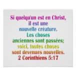 2 Corinthians 5:17 French Poster