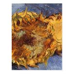 2 Cut Sunflowers by Vincent van Gogh, Vintage Art Postcards