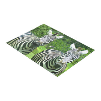 2 Cute Zebras Doormat