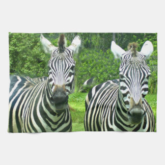 2 Cute Zebras Tea Towel
