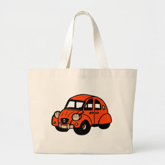 2 cv vintage french car jumbo tote bag