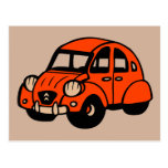 2 cv vintage french car postcard