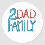 2 Dad Family Classic Round Sticker