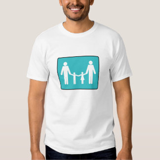 2 dads,  1 boy, 1 girl shirts