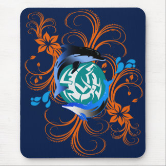 2 dolphins mousepad