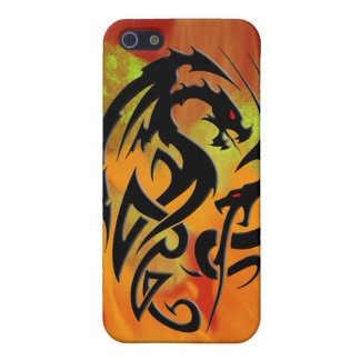 2 Dragons black Case For The iPhone 5
