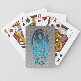 2 Dragons blues Poker Deck