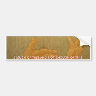 2 fingers bumper sticker