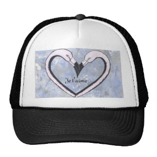 2 Flamingo kiss heart Je t'aime, Cap
