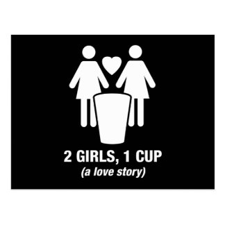 2 girls one cup - 2girls1cup - funny tee post card