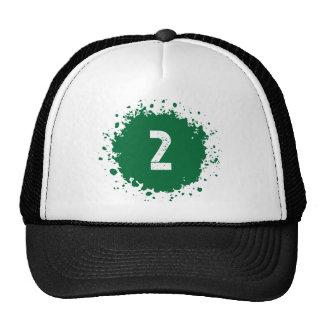 #2 Green Splatter Cap