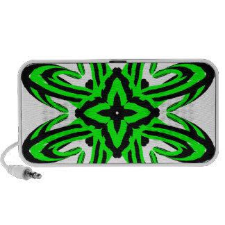 2 Green Transparent Travelling Speakers
