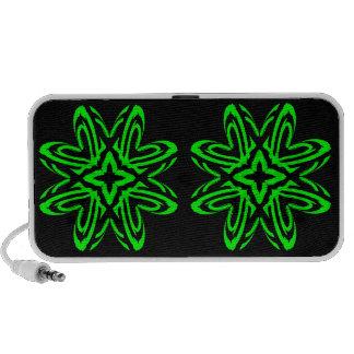 2 Green Transparent Laptop Speakers