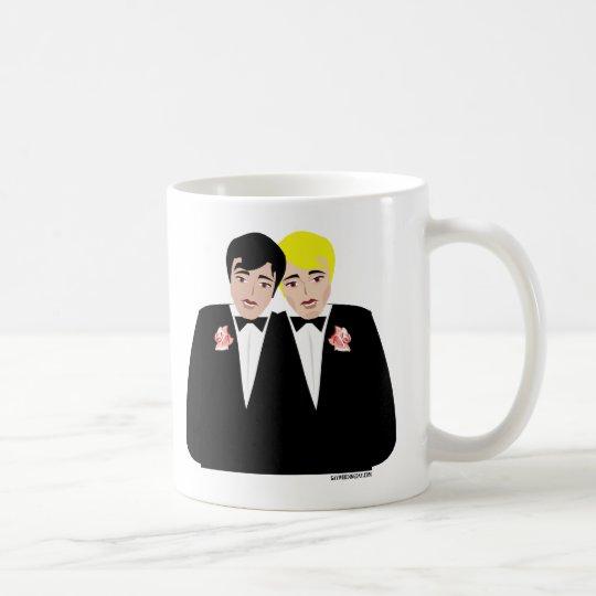 2 Grooms (Blonde and Black Hair) Coffee Mug