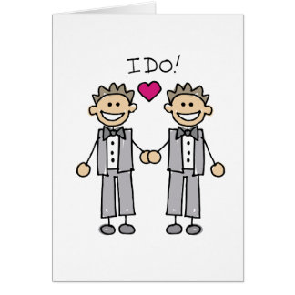 2 Grooms Greeting Cards