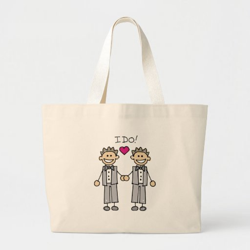 2 Grooms Jumbo Tote Bag