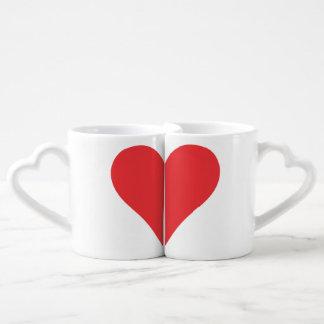 2 halfs heart lovers mug