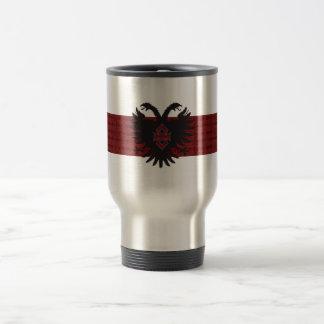 2 Headed Eagle Crest Ænigma Graphic Design Stainless Steel Travel Mug