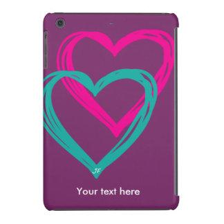 """2 heart"" iPad mini retina covers"