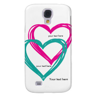 """2 heart"" Samsung Galaxy S4, Barely There Galaxy S4 Case"