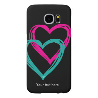 """2 heart"" Samsung Galaxy S6, Barely There Samsung Galaxy S6 Cases"