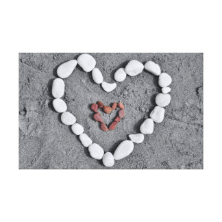 2 Hearts 1 Love Canvas Print